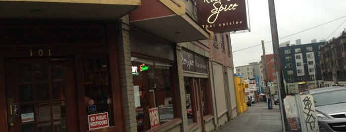 Rice N Spice is one of Where to eat near the Seattle Monorail platforms!.