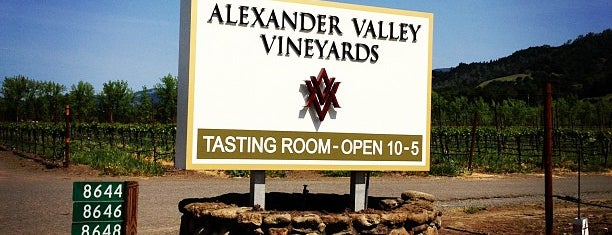 Alexander Valley Vineyards is one of Wine Road Picnicking- al Fresco Perfetto!.