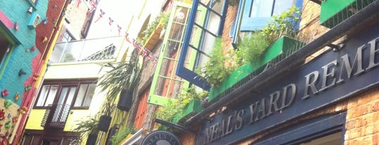 Neal's Yard is one of London, August 2012.