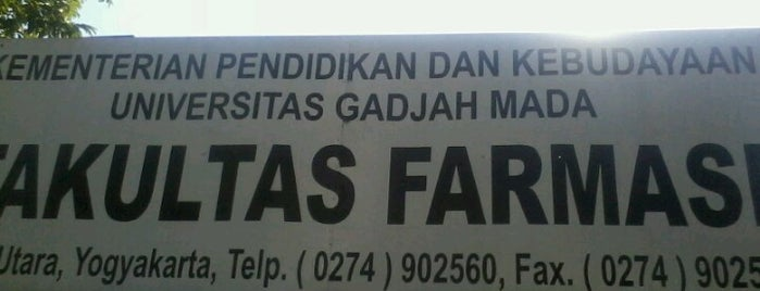 Fakultas Farmasi is one of Universitas Gadjah Mada.