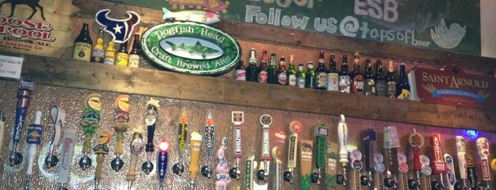Taps House of Beer is one of College Nightlife Houston.