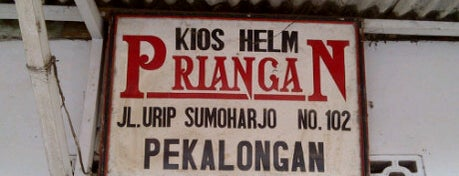 Kios Helm Priangan is one of Pekalongan World of Batik.