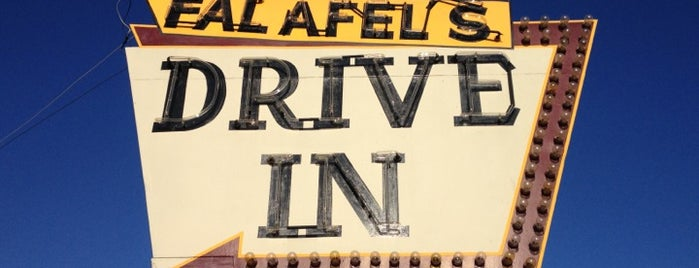 Falafel's Drive-In is one of Diners, Drive-Ins, & Dives.