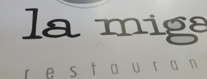 La Miga is one of Restaurantes de interes.