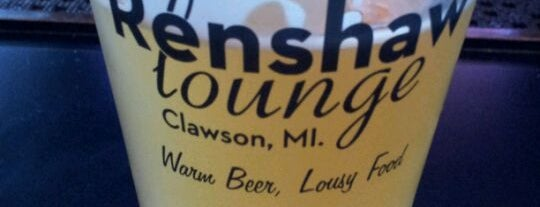 Renshaw Lounge is one of Bar hopping in Clawson, MI.