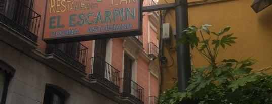 Sidrería El Escarpín is one of Madrid: de Tapas, Tabernas y +.