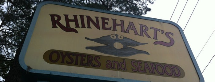Rhinehart's Oyster Bar is one of Rob's Food Spots.