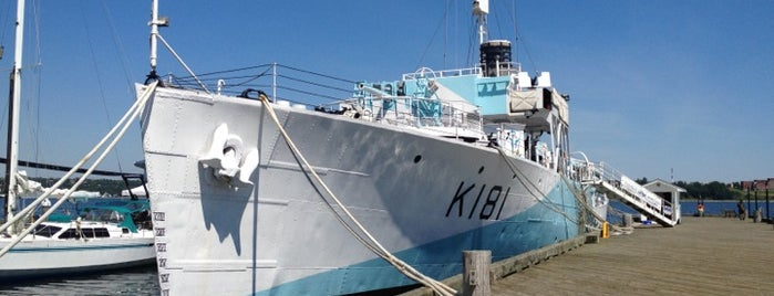 HMCS Sackville is one of Halifax, NS.