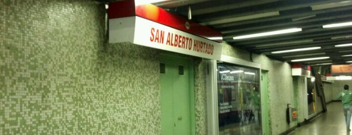 Metro San Alberto Hurtado is one of Estaciones del Metro de Santiago.