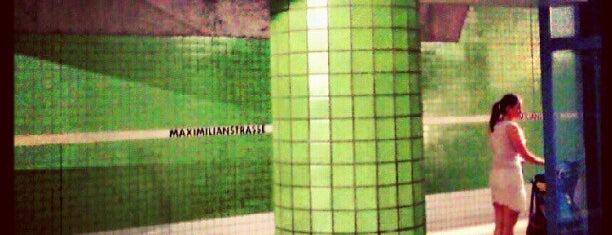 U+H Maximilianstraße is one of Nürnberg, Deutschland (Nuremberg, Germany).