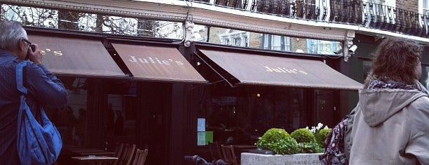 Julie's Restaurant and Champagne Bar is one of My Notting Hill.