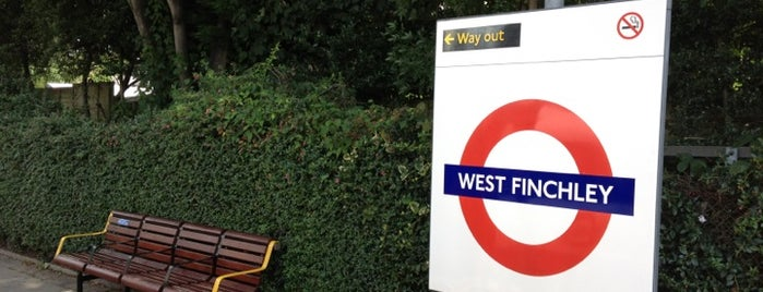 West Finchley London Underground Station is one of Tube Challenge.