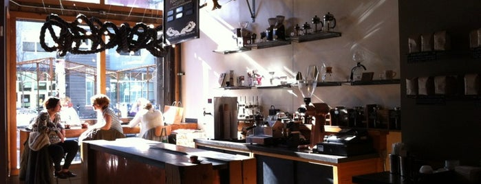 Four Barrel Coffee is one of Coffee spots for the coffee snob.