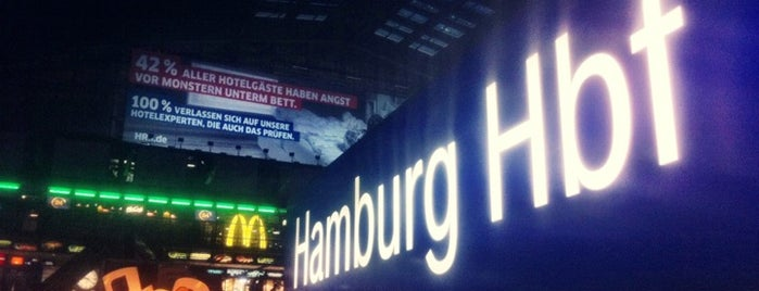 Hamburg Hauptbahnhof is one of DB ICE-Bahnhöfe.
