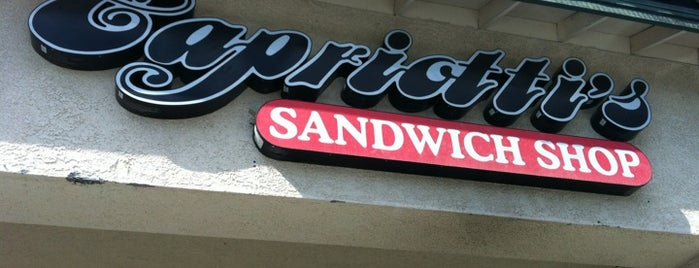 Capriotti's Sandwich Shop is one of Vegetarian and Veggie Friendly.