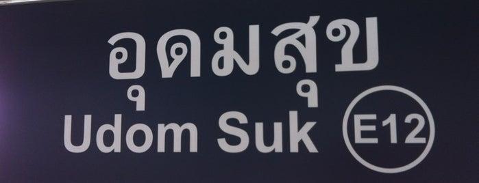 BTS Udom Suk (E12) is one of BTS Station - Sukhumvit Line.