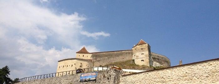 Cetatea Râșnov is one of Romania.