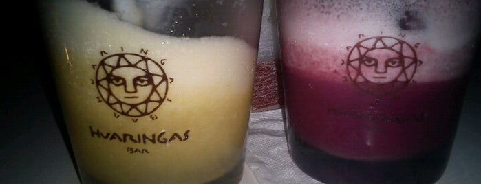 "Huaringas Bar is one of Night Life ""Info Llama""."