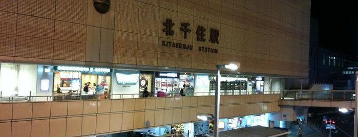 Kita-Senju Station is one of 東京近郊区間主要駅.