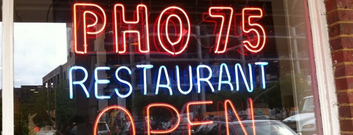 Pho 75 is one of Essential Pho Restaurants Around D.C..
