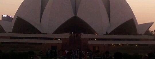 Lotus Temple (Bahá'í House of Worship) is one of Our India Trip 2012.
