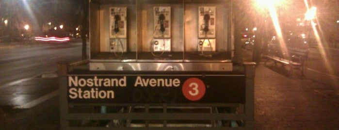 MTA Subway - Nostrand Ave (3) is one of NYC Subways 4/5/6.
