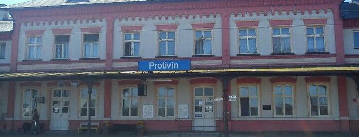 Železniční stanice Protivín is one of Železniční stanice ČR: P (9/14).
