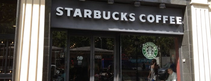Starbucks is one of Wifi places in Barcelona.