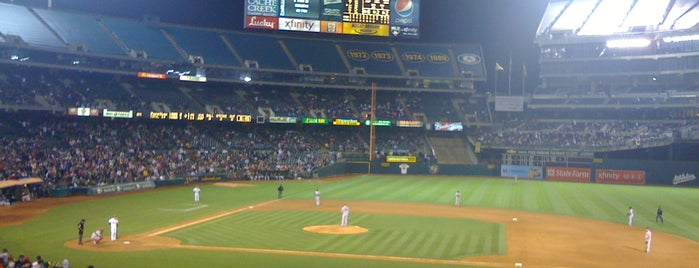 Oakland-Alameda County Coliseum is one of Experience Teams & Venues.
