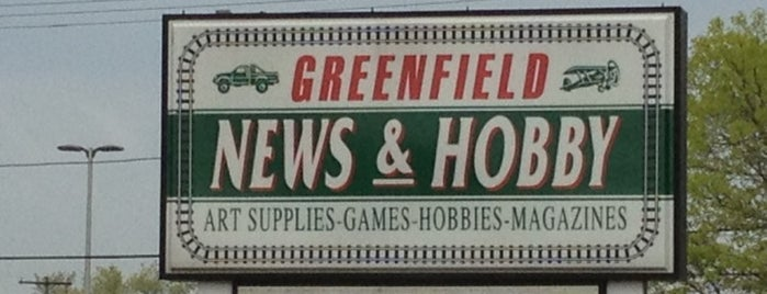 Greenfield News & Hobby is one of places i frequent.