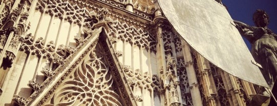 383. Cathedral, Alcázar and Archivo de Indias in Seville (1987) is one of 36 hours in... Seville.