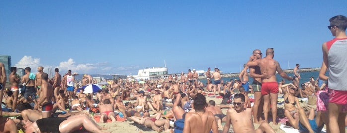 Mar Bella Beach is one of Barcelona.