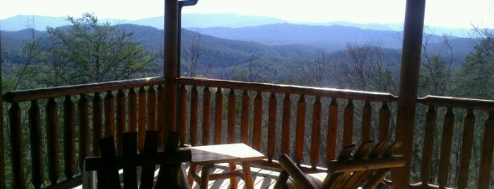 Once Upon a View Rental Cabin by Cabin Fever Vacations is one of Home Theater Cabins in the Smokies.