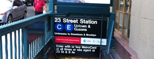 """MTA Subway - 23rd St (C/E) is one of """"Be Robin Hood #121212 Concert"""" @ New York!."""