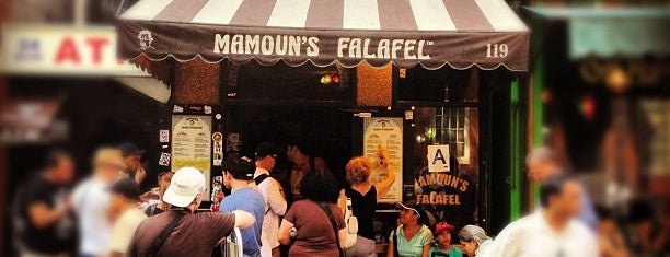 Mamoun's Falafel is one of New York cheap eats.