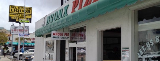 Bronx Pizza is one of San Diego's 59-Mile Scenic Drive.