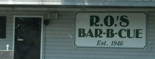 R.O.'s Bar-B-Q is one of 500 Things to Eat & Where - South.