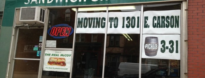 Real McCoy Sandwich Shop is one of PittsburghLove.