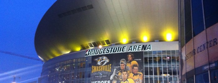 Bridgestone Arena is one of NHL Hockey Arenas.