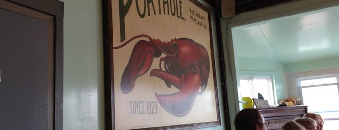 The Porthole is one of Diners, Drive-Ins, and Dives- Part 2.