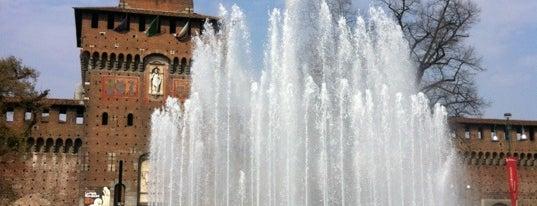 Fontana del Castello Sforzesco is one of Milano.