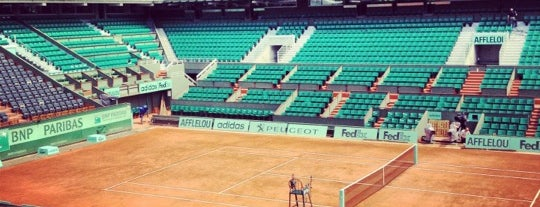 Court Philippe Chatrier is one of Roland Garros 2013.
