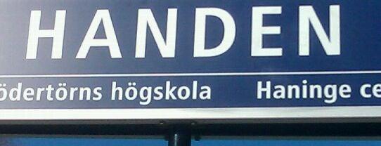 Handen (J) is one of SE - Sthlm - Pendeltåg.
