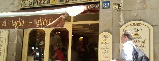 La Pizza del Born is one of Cheap Eats Barcelona 5-10€.