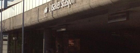 Lysaker stasjon is one of Toget.