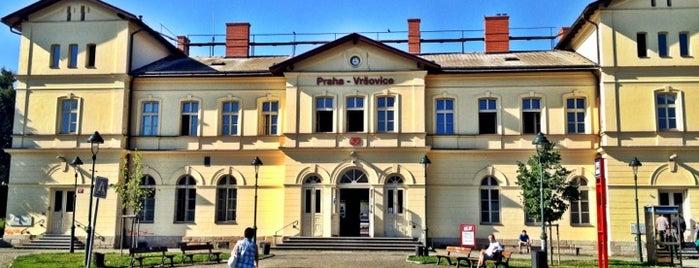 Železniční stanice Praha-Vršovice is one of Železniční stanice ČR: P (9/14).