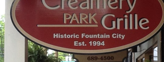 The Creamery Park Grille is one of Fountain City FUN!.