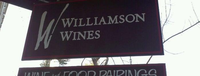 Williamson Wines is one of Wine Road Wine & Food Pairings.