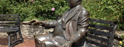 Herman B Wells Statue is one of IU Badge.