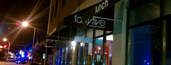 Forty Five Degrees is one of Places to eat in INDY.